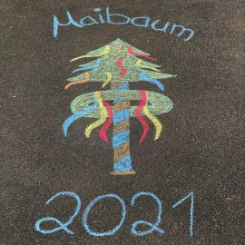 Maibaum 2021 - Kreide Originalbild (Share)